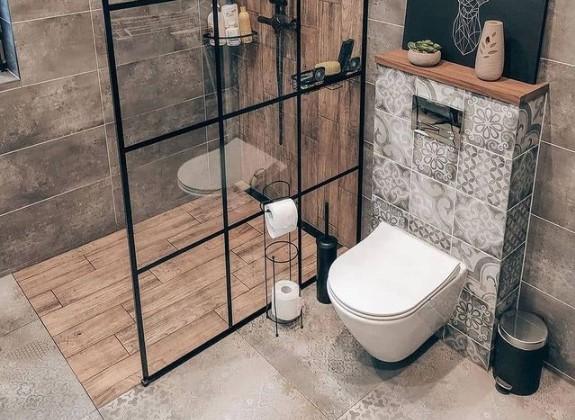 kamar mandi minimalis apartemen studio