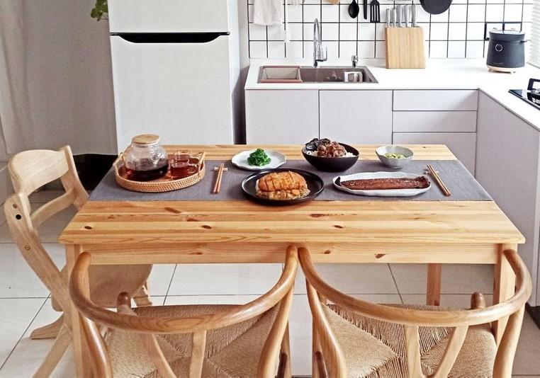 ruang makan ala japandi