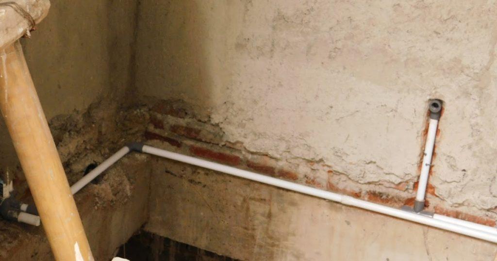 saluran pipa dinding
