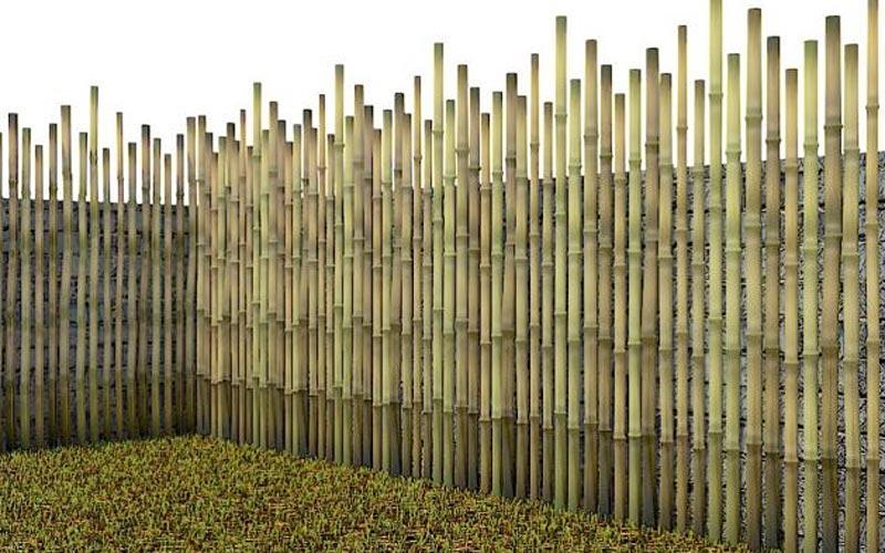 pagar bambu unik
