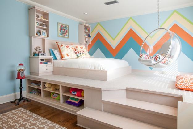 Desain Kamar Tidur Anak Split Level