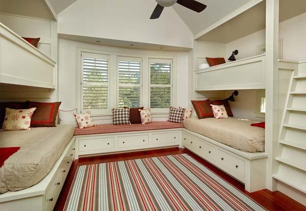 Desain Kamar Tidur Anak dengan Area Duduk
