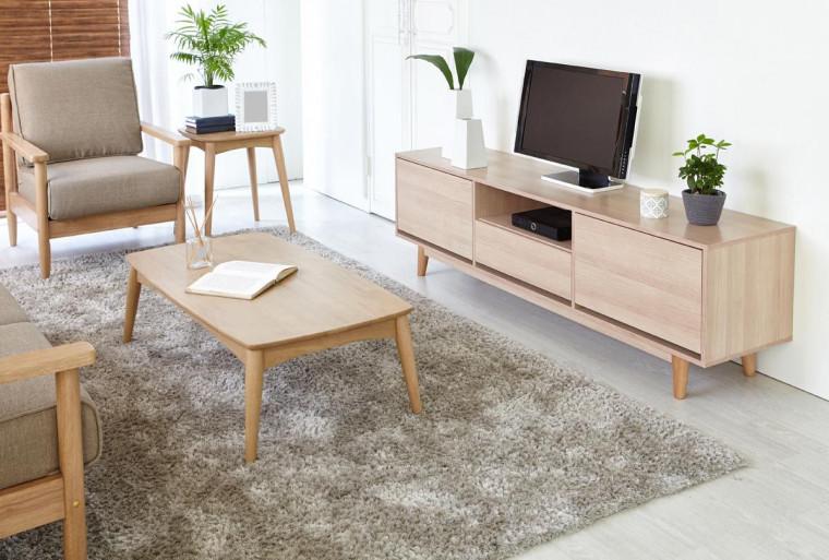 Ruang TV Bergaya Skandinavia
