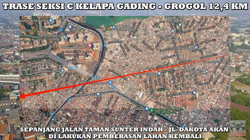 Trase lanjutan Tol Kelapa Gading - Pulo Gebang