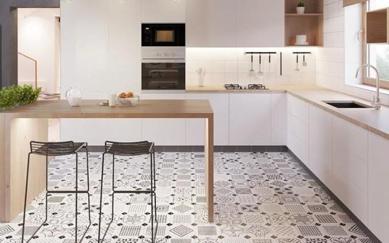 keramik lantai dapur kasar