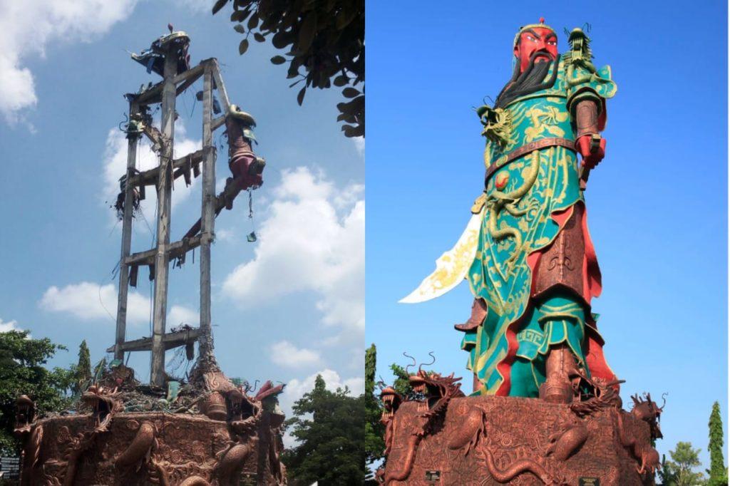 Patung dewa perang Kwan Sing Tee Koen - Tuban