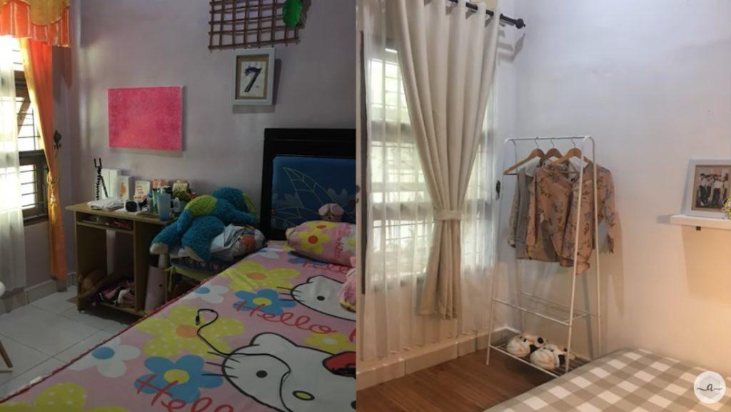 before after renovasi kamar tidur