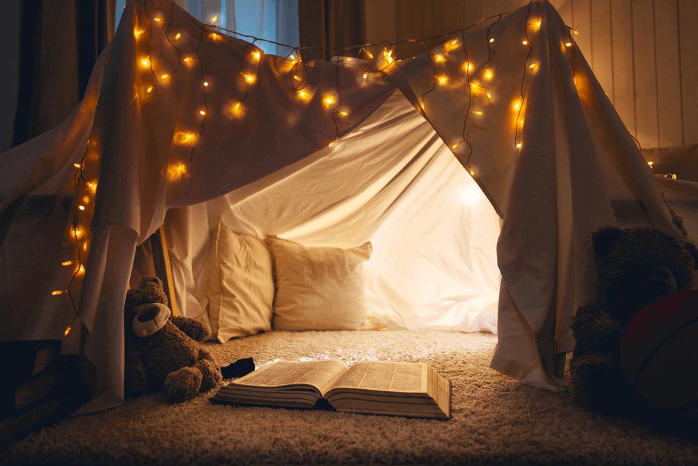 Dekorasi Kamar Tidur Anak Perempuan dengan Tenda