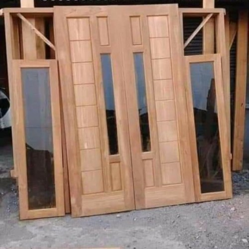 kusen pintu kayu meranti