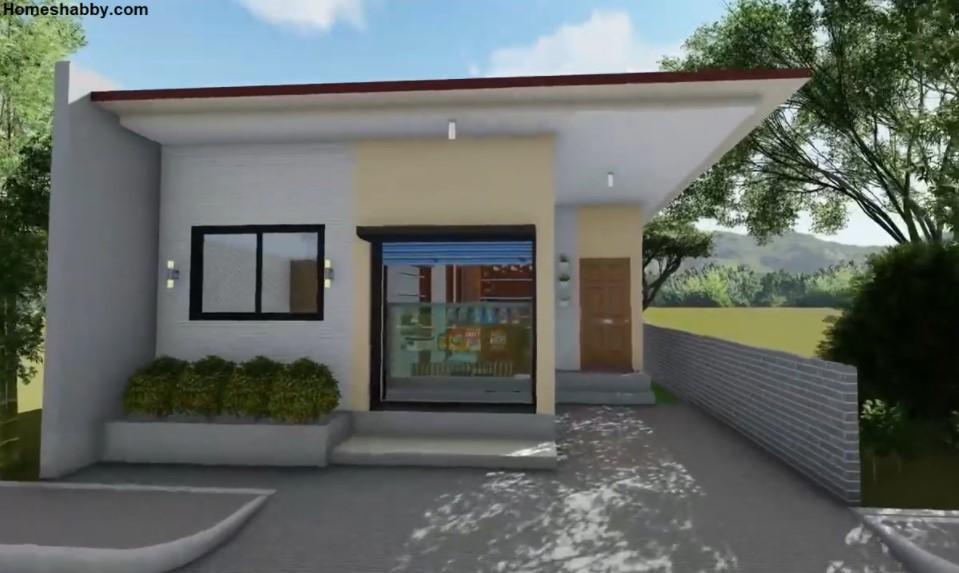 Desain Rumah Tanpa Carport sebagai Tempat Usaha