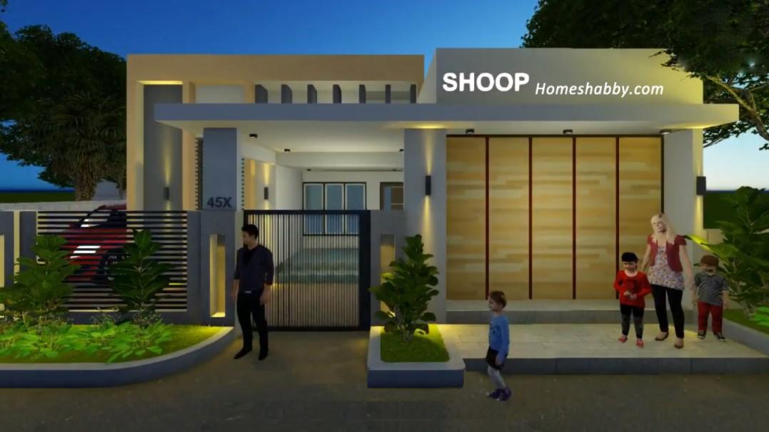 Desain Rumah Tinggal Sekaligus Tempat Usaha Modern