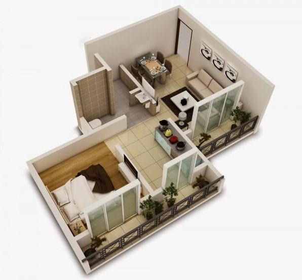 Desain Rumah 1 Kamar
