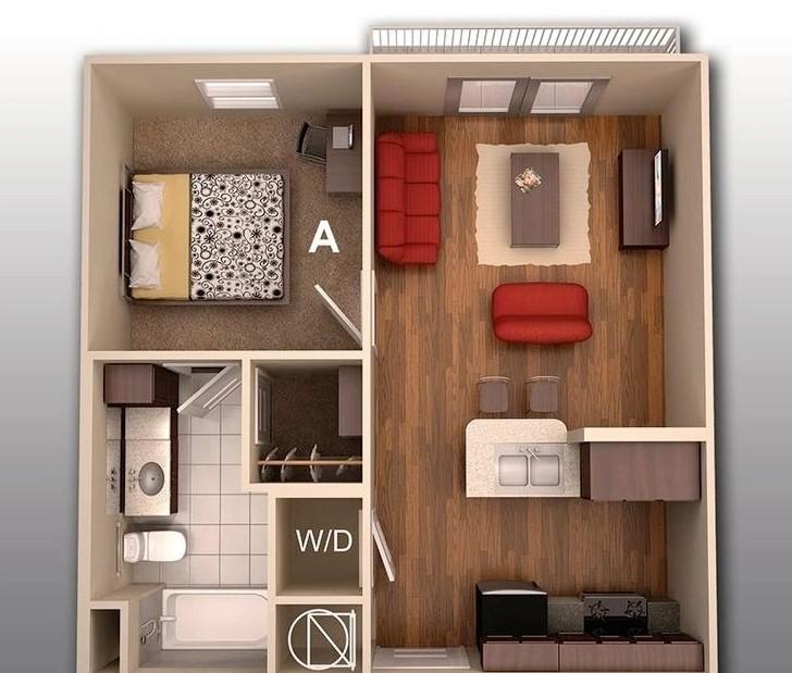 Rumah 1 Kamar Sederhana