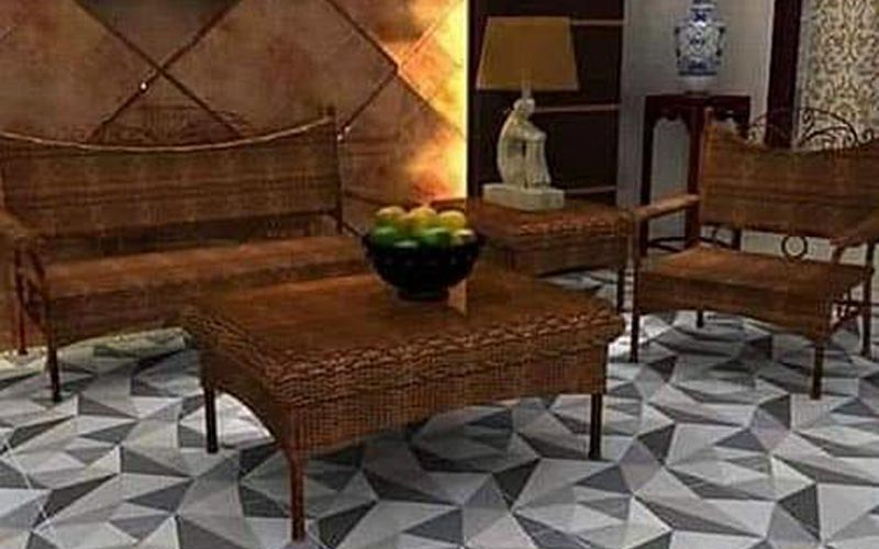 keramik lantai ruang tamu 60 x 60