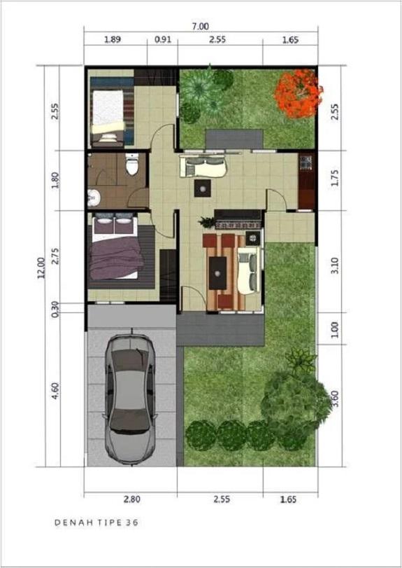 desain rumah minimalis 36