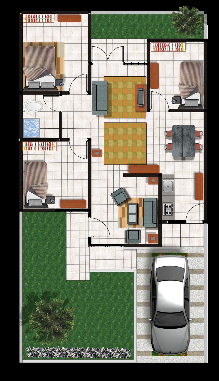 desain rumah minimalis 70