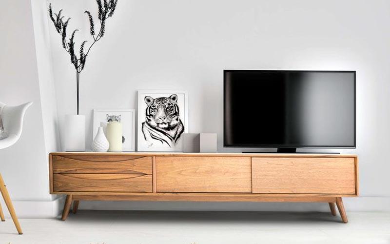 meja tv kayu