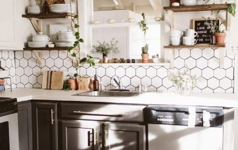 keramik dinding dapur sederhana