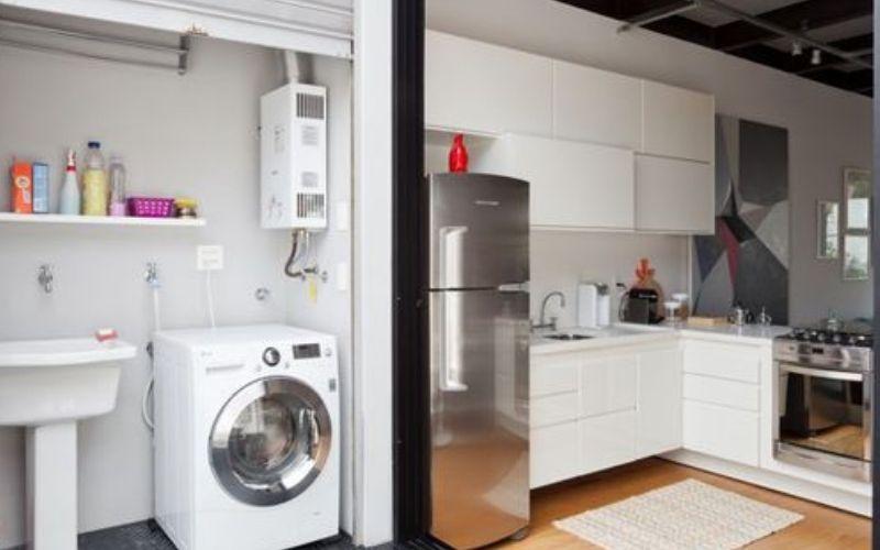desain dapur dan tempat cuci baju minimalis