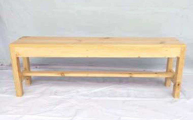 kursi kayu panjang teras