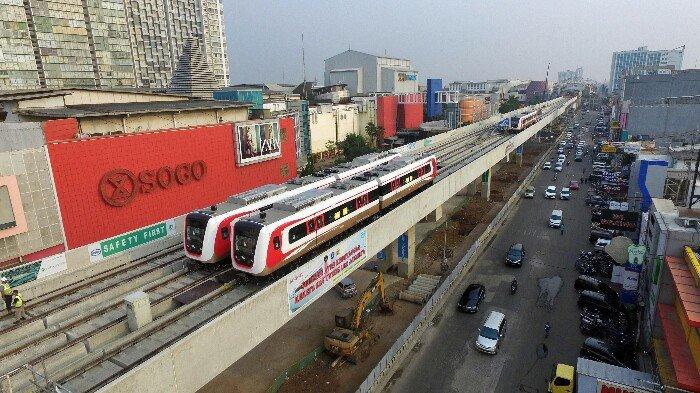 LRT Kelapa Gading-Velodrome di Jakarta