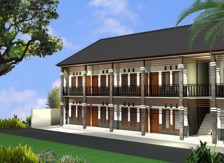 Desain Rumah Kos-kosan 2 Lantai