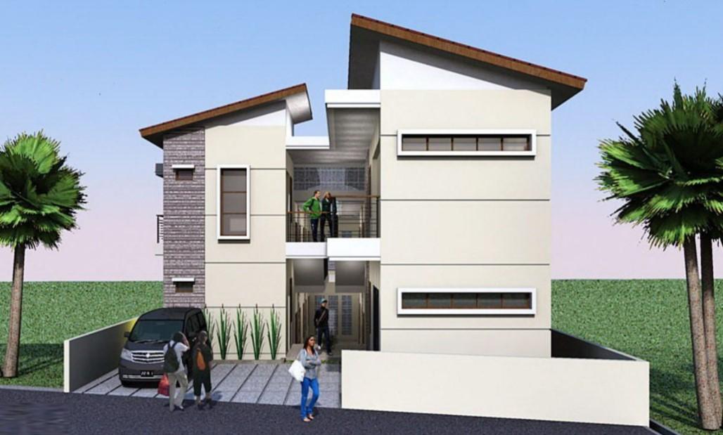 Desain Rumah Kos-kosan dengan Carport