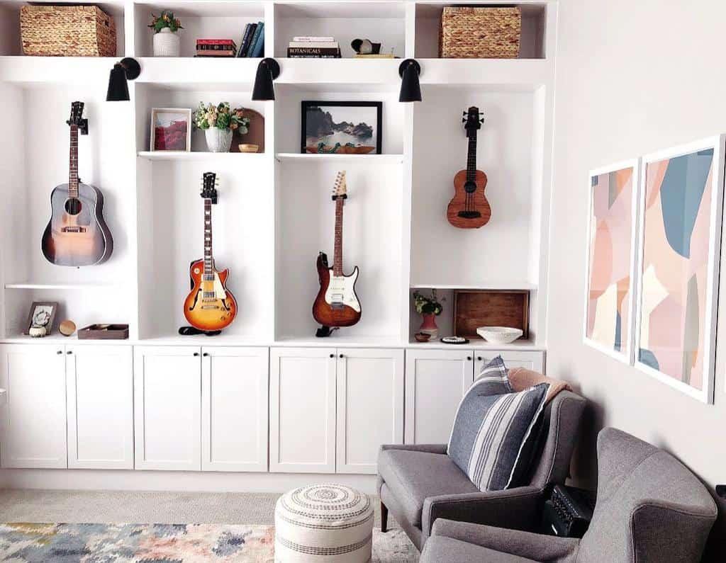 Ruang Musik di Rumah Bergaya Gallery