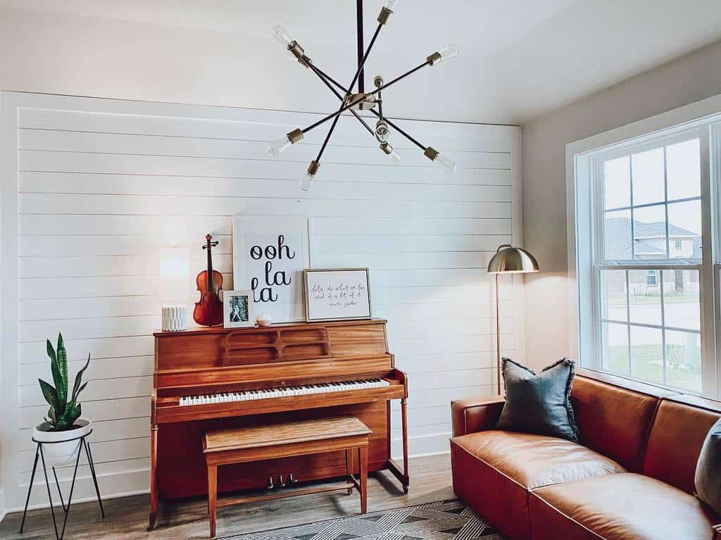 Ruang Musik Sederhana di Rumah