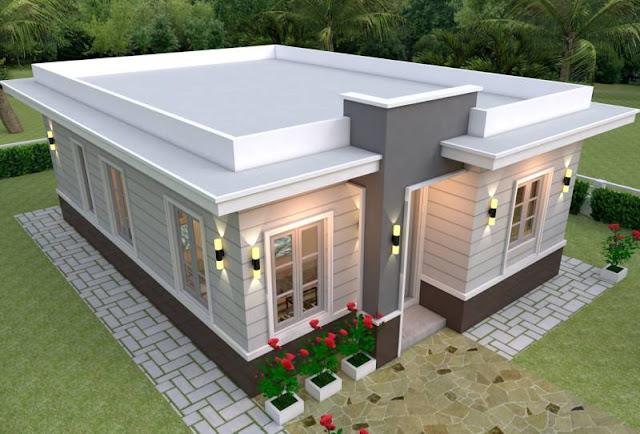 Model Atap Rumah Datar